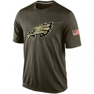 Men's Nike Philadelphia Eagles Olive Salute To Service KO Performance Dri-FIT T-Shirt -