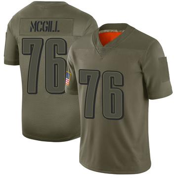 Men's Nike Philadelphia Eagles T.Y. McGill Camo 2019 Salute to Service Jersey - Limited
