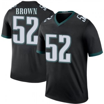 Men's Philadelphia Eagles Zach Brown Black Color Rush Jersey - Legend