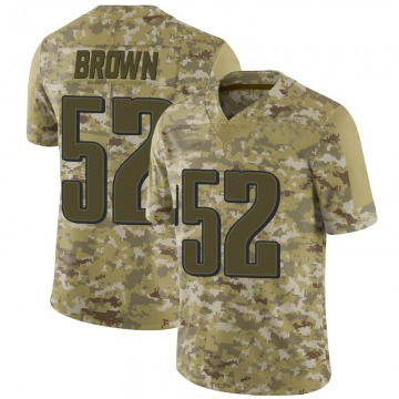 Men's Philadelphia Eagles Zach Brown Brown Camo 2018 Salute to Service Jersey - Limited