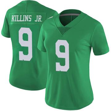Women's Nike Philadelphia Eagles Adrian Killins Jr. Green Vapor Untouchable Jersey - Limited