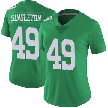 Women's Nike Philadelphia Eagles Alex Singleton Green Vapor Untouchable Jersey - Limited