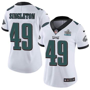 Women's Nike Philadelphia Eagles Alex Singleton White Super Bowl LII Vapor Untouchable Jersey - Limited