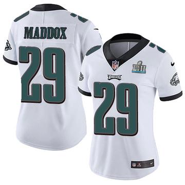 Women's Nike Philadelphia Eagles Avonte Maddox White Super Bowl LII Vapor Untouchable Jersey - Limited