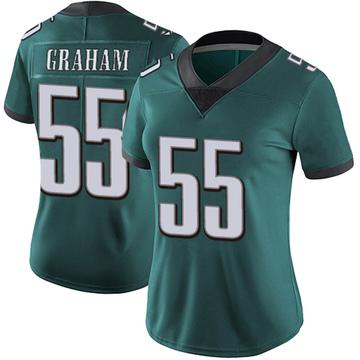 Women's Nike Philadelphia Eagles Brandon Graham Green Midnight 100th Vapor Jersey - Limited