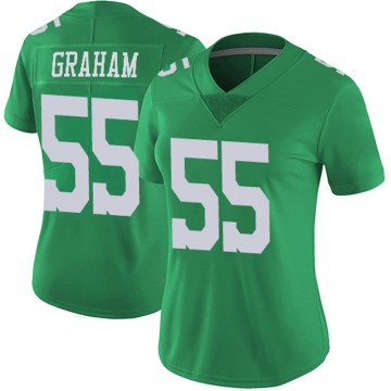 Women's Nike Philadelphia Eagles Brandon Graham Green Vapor Untouchable Jersey - Limited