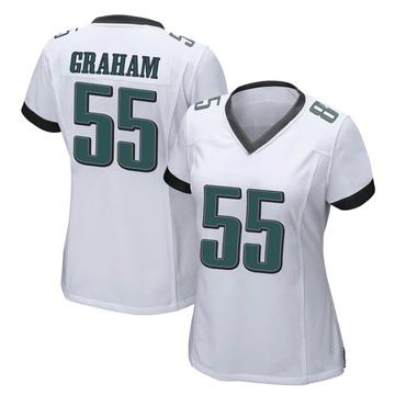 Women's Nike Philadelphia Eagles Brandon Graham White Jersey - Game
