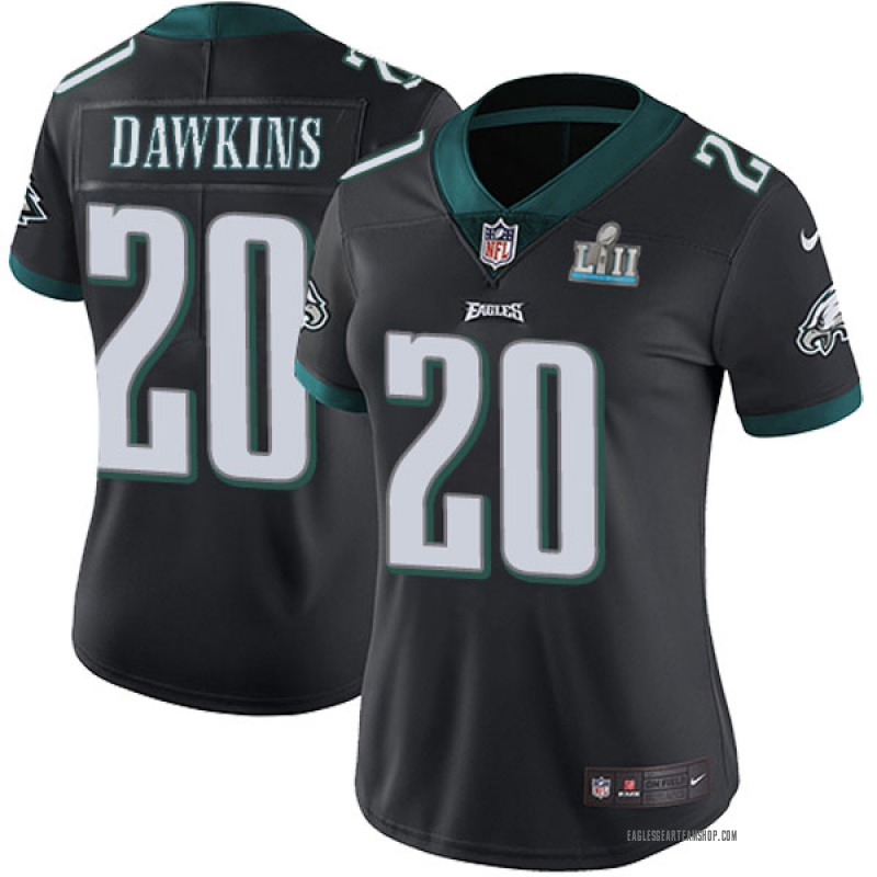 check out cbc5a e03d4 Women's Nike Philadelphia Eagles Brian Dawkins Black Alternate Super Bowl  LII Vapor Untouchable Jersey - Limited