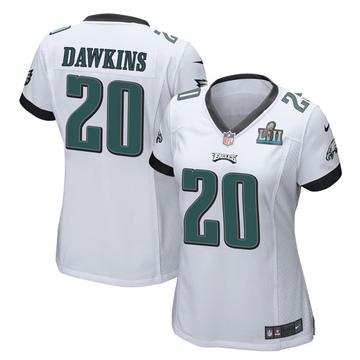 Women's Nike Philadelphia Eagles Brian Dawkins White Super Bowl LII Jersey - Game