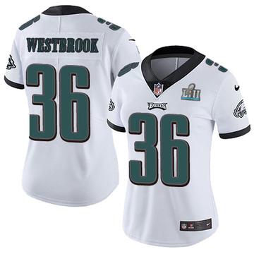 Women's Nike Philadelphia Eagles Brian Westbrook White Super Bowl LII Vapor Untouchable Jersey - Limited