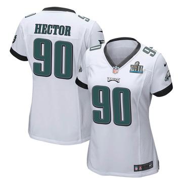 Women's Nike Philadelphia Eagles Bruce Hector White Super Bowl LII Jersey - Game