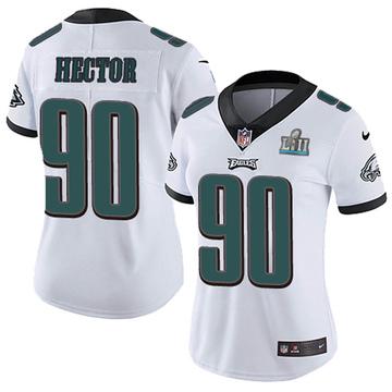 Women's Nike Philadelphia Eagles Bruce Hector White Super Bowl LII Vapor Untouchable Jersey - Limited