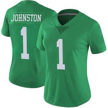 Women's Nike Philadelphia Eagles Cameron Johnston Green Vapor Untouchable Jersey - Limited