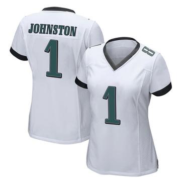 Women's Nike Philadelphia Eagles Cameron Johnston White Jersey - Game