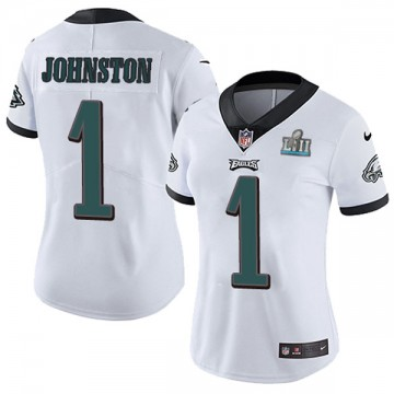 Women's Nike Philadelphia Eagles Cameron Johnston White Super Bowl LII Vapor Untouchable Jersey - Limited