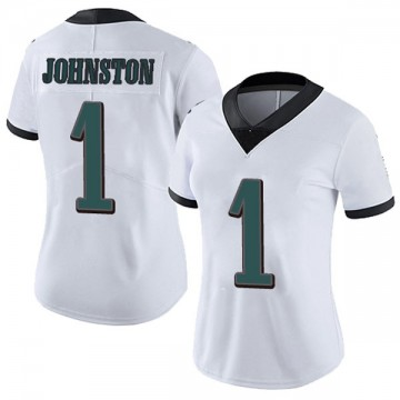 Women's Nike Philadelphia Eagles Cameron Johnston White Vapor Untouchable Jersey - Limited