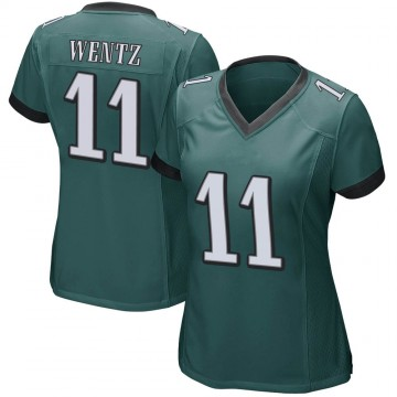 Women's Nike Philadelphia Eagles Carson Wentz Green Team Color Jersey - Game