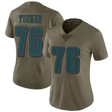 Women's Nike Philadelphia Eagles Casey Tucker Green 2017 Salute to Service Jersey - Limited