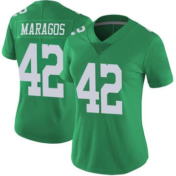 Women's Nike Philadelphia Eagles Chris Maragos Green Vapor Untouchable Jersey - Limited