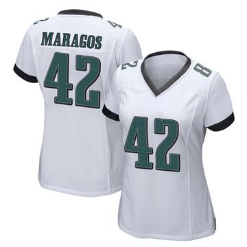 Women's Nike Philadelphia Eagles Chris Maragos White Jersey - Game