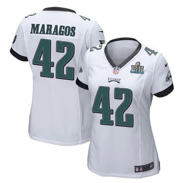 Women's Nike Philadelphia Eagles Chris Maragos White Super Bowl LII Jersey - Game