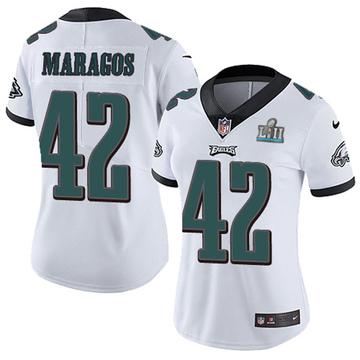 Women's Nike Philadelphia Eagles Chris Maragos White Super Bowl LII Vapor Untouchable Jersey - Limited