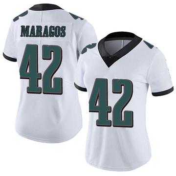 Women's Nike Philadelphia Eagles Chris Maragos White Vapor Untouchable Jersey - Limited