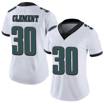 Women's Nike Philadelphia Eagles Corey Clement White Vapor Untouchable Jersey - Limited