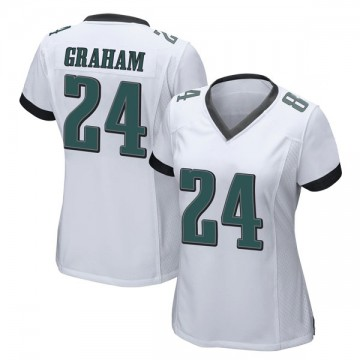 Women's Nike Philadelphia Eagles Corey Graham White Jersey - Game
