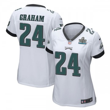 Women's Nike Philadelphia Eagles Corey Graham White Super Bowl LII Jersey - Game