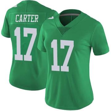 Women's Nike Philadelphia Eagles Cris Carter Green Vapor Untouchable Jersey - Limited
