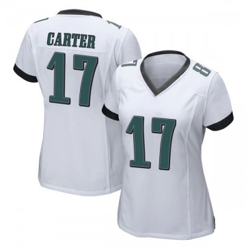 Women's Nike Philadelphia Eagles Cris Carter White Jersey - Game