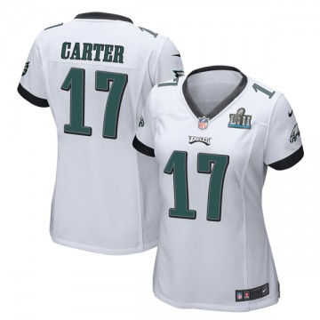 Women's Nike Philadelphia Eagles Cris Carter White Super Bowl LII Jersey - Game
