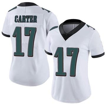 Women's Nike Philadelphia Eagles Cris Carter White Vapor Untouchable Jersey - Limited