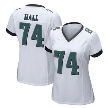 Women's Nike Philadelphia Eagles Daeshon Hall White Jersey - Game