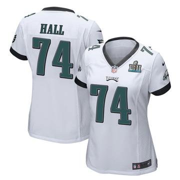 Women's Nike Philadelphia Eagles Daeshon Hall White Super Bowl LII Jersey - Game