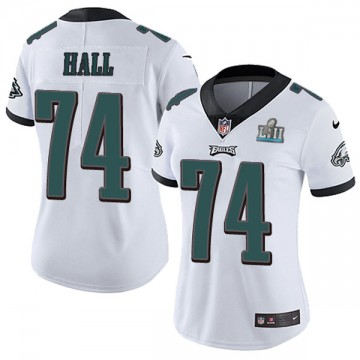 Women's Nike Philadelphia Eagles Daeshon Hall White Super Bowl LII Vapor Untouchable Jersey - Limited