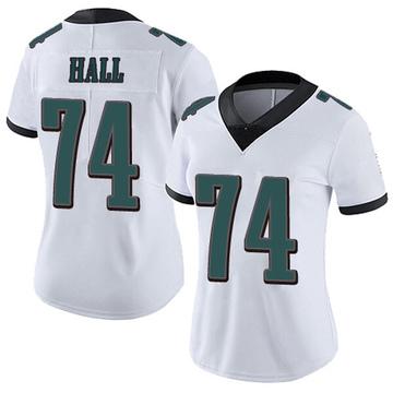 Women's Nike Philadelphia Eagles Daeshon Hall White Vapor Untouchable Jersey - Limited