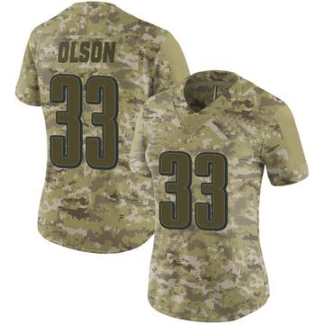 Women's Nike Philadelphia Eagles Dante Olson Camo 2018 Salute to Service Jersey - Limited