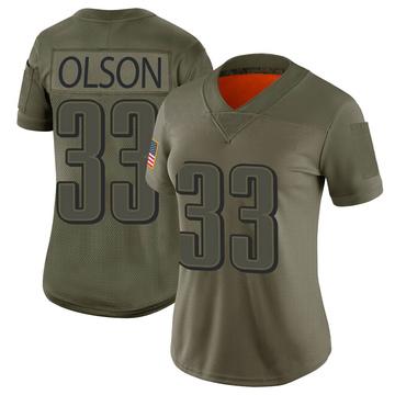 Women's Nike Philadelphia Eagles Dante Olson Camo 2019 Salute to Service Jersey - Limited