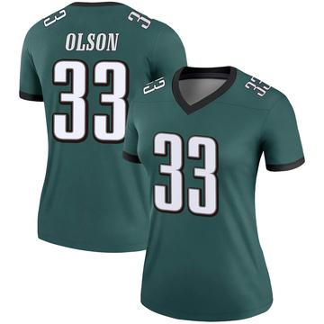 Women's Nike Philadelphia Eagles Dante Olson Green Jersey - Legend