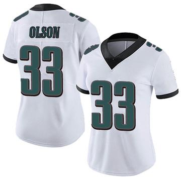 Women's Nike Philadelphia Eagles Dante Olson White Vapor Untouchable Jersey - Limited