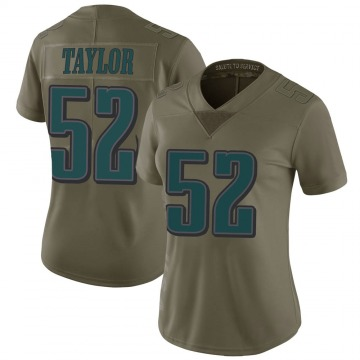 Women's Nike Philadelphia Eagles Davion Taylor Green 2017 Salute to Service Jersey - Limited