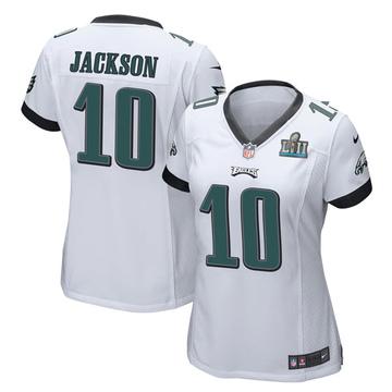 Women's Nike Philadelphia Eagles DeSean Jackson White Super Bowl LII Jersey - Game