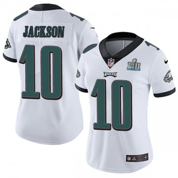 Women's Nike Philadelphia Eagles DeSean Jackson White Super Bowl LII Vapor Untouchable Jersey - Limited