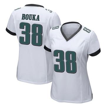 Women's Nike Philadelphia Eagles Elie Bouka White Jersey - Game