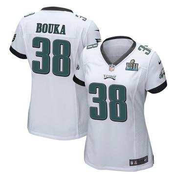 Women's Nike Philadelphia Eagles Elie Bouka White Super Bowl LII Jersey - Game