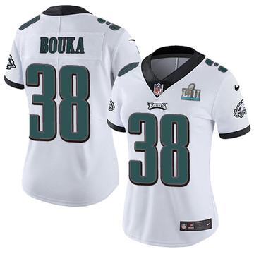 Women's Nike Philadelphia Eagles Elie Bouka White Super Bowl LII Vapor Untouchable Jersey - Limited