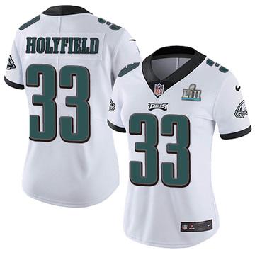 Women's Nike Philadelphia Eagles Elijah Holyfield White Super Bowl LII Vapor Untouchable Jersey - Limited