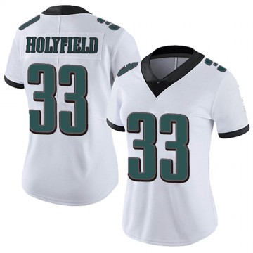 Women's Nike Philadelphia Eagles Elijah Holyfield White Vapor Untouchable Jersey - Limited